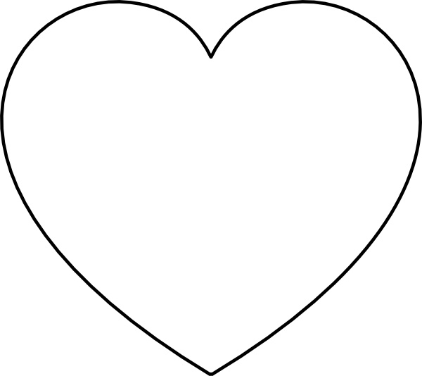 600x534 Heart Line Drawing Clip Art Heart Clip Art