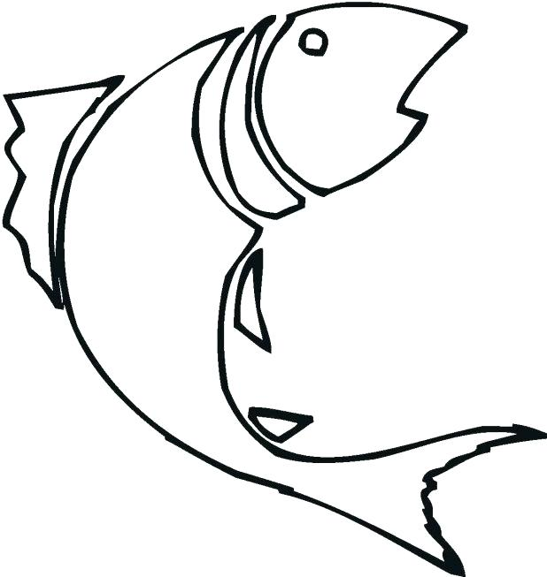 618x653 Fish Outline Drawing Free Printable Fish Template Fish Outline