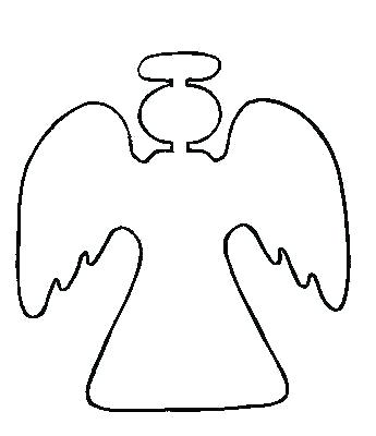 345x400 Angel Wings Template Free Printable Fish To Color Picture