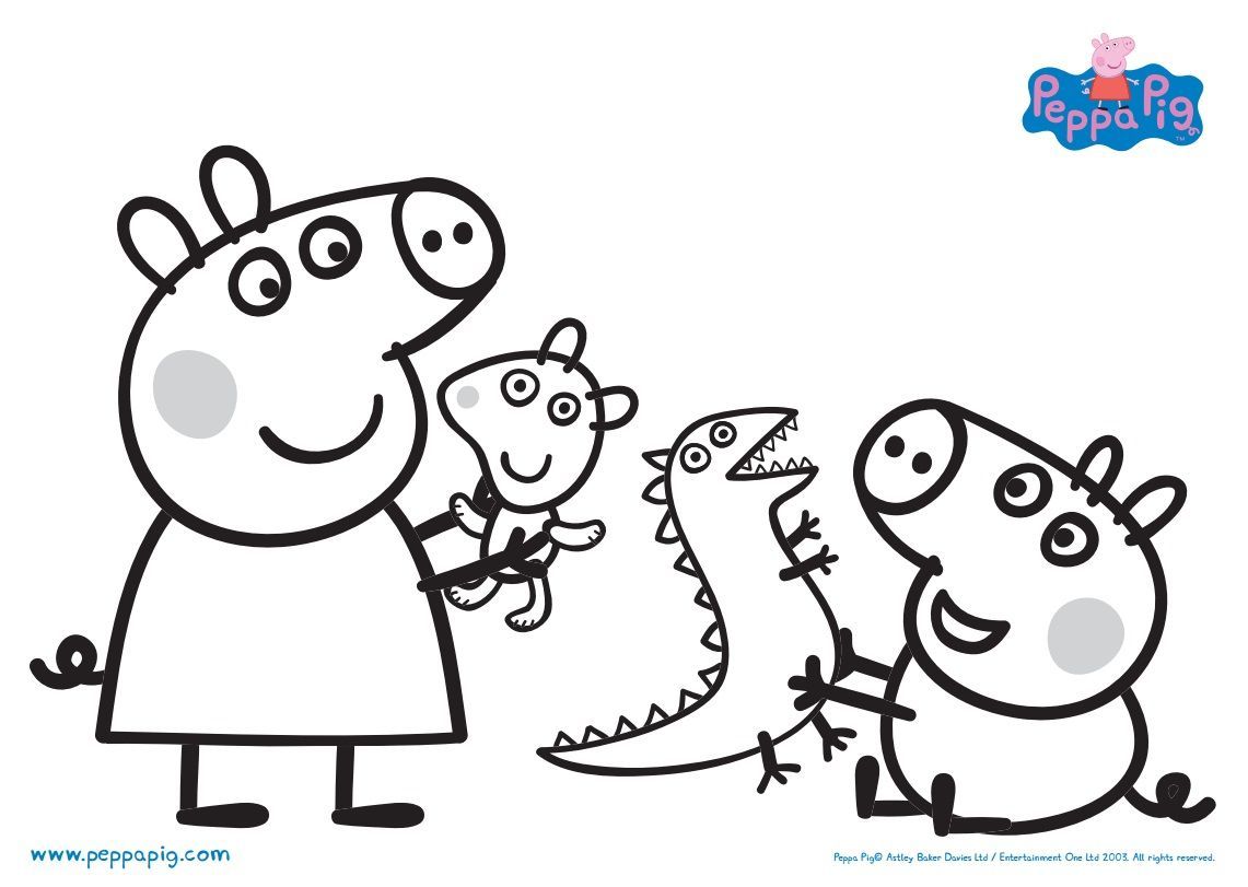 1141x811 Peppa Pig Drawing Coloring Pages Animals Pictures Images Of Free