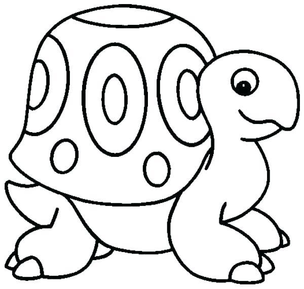 600x571 Easy Turtle Drawings