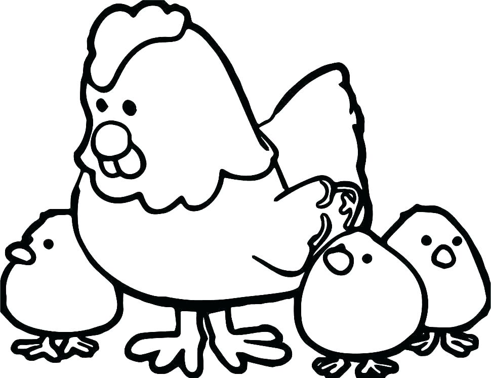 970x747 Hen And Chick Farm Animal Coloring Pages Free Halloween Witch