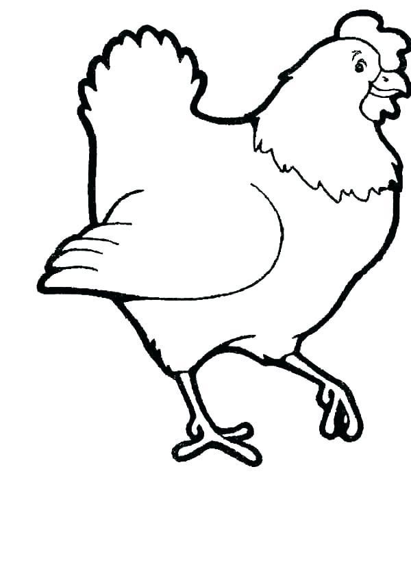 600x847 Hen Coloring
