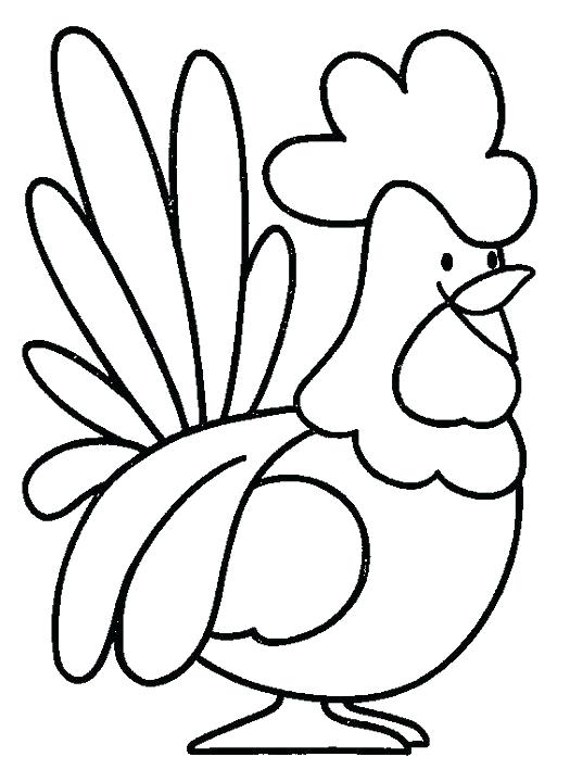 525x720 Realistic Chicken Drawing At Free For Personal Use Free Printable