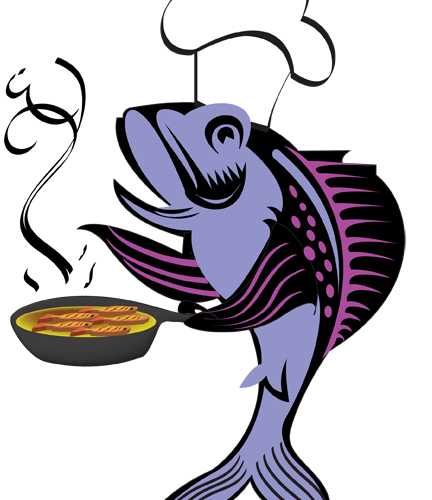 432x500 frying graphic free library frying fish huge freebie! download