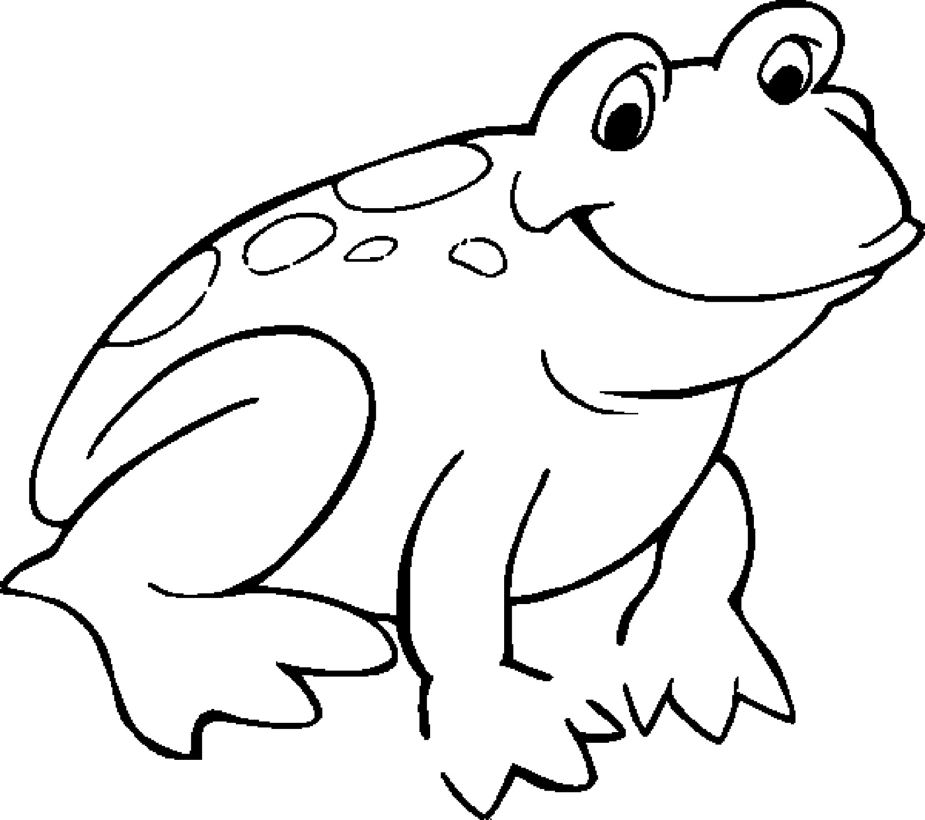 1800x1595 Frog Coloring Pages To Print Awesome Easy Frog Drawing For Kids