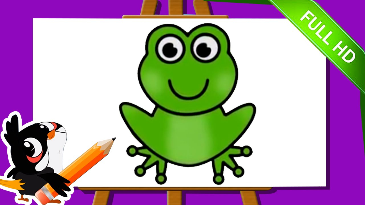 1280x720 Frogs Drawing For Kids And Learn How To Draw A Frog Easy