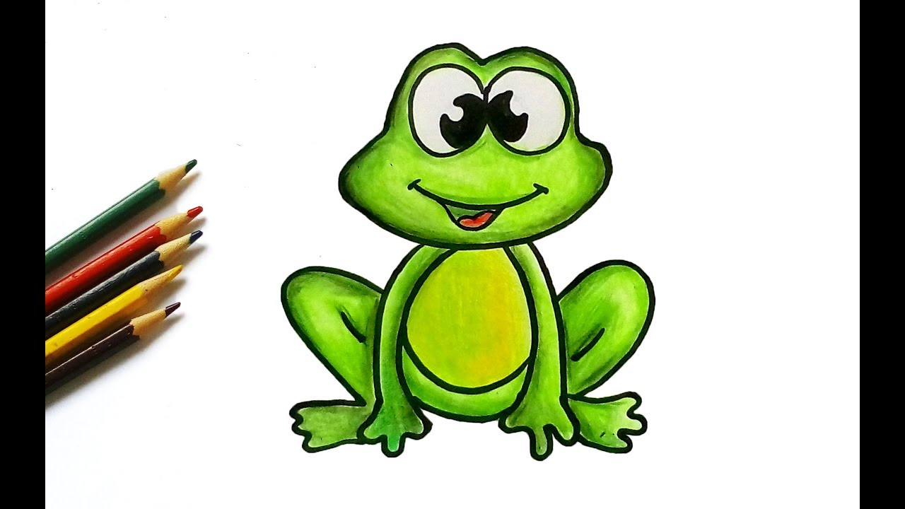 1280x720 How To Draw A Frog For Kids Easy Drawing Tutorial