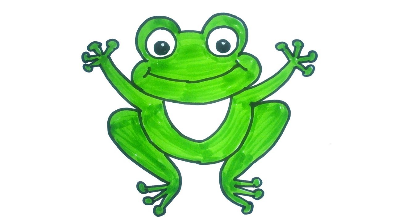 1280x720 Cartoon Frog Drawing How To Draw A Cartoon Frog Easy Step