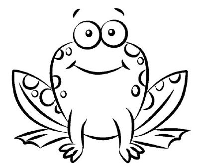 400x338 how to draw a frog in steps lesson ideas frog drawing, frog
