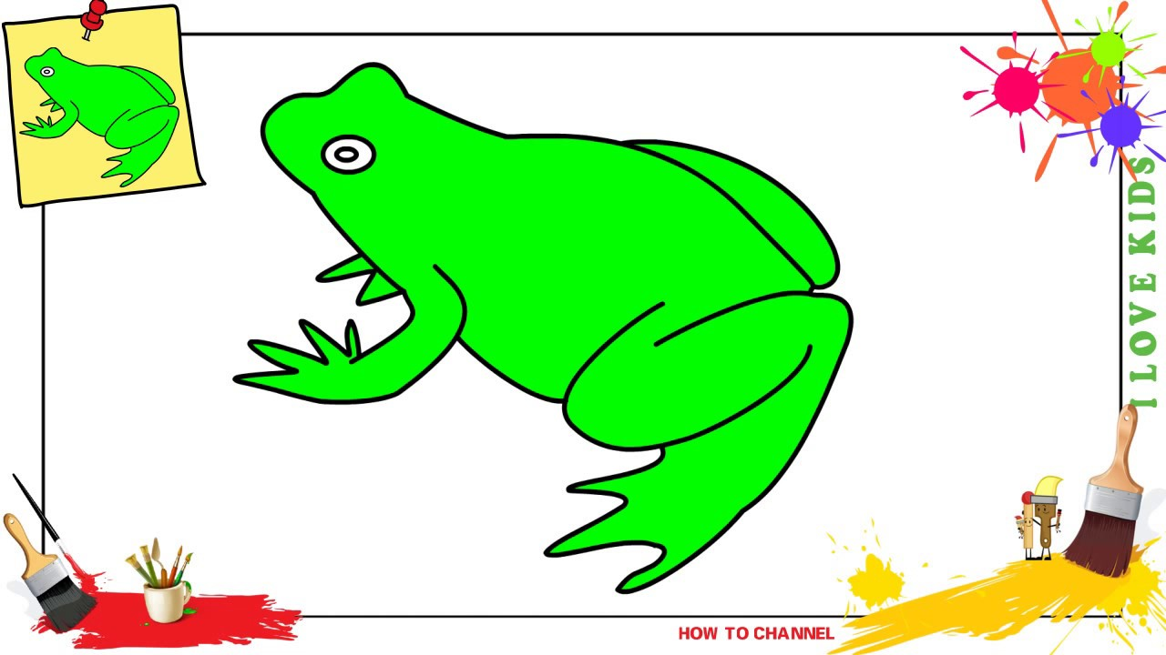 Frog Drawing For Kids | Free download on ClipArtMag