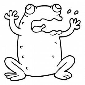 Frog Line Drawing