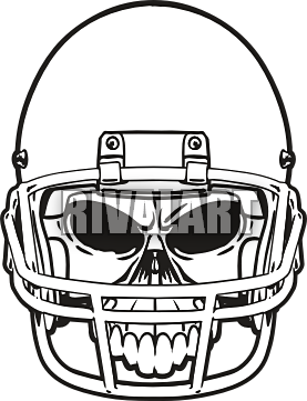 277x361 Football Helmet Front Vector