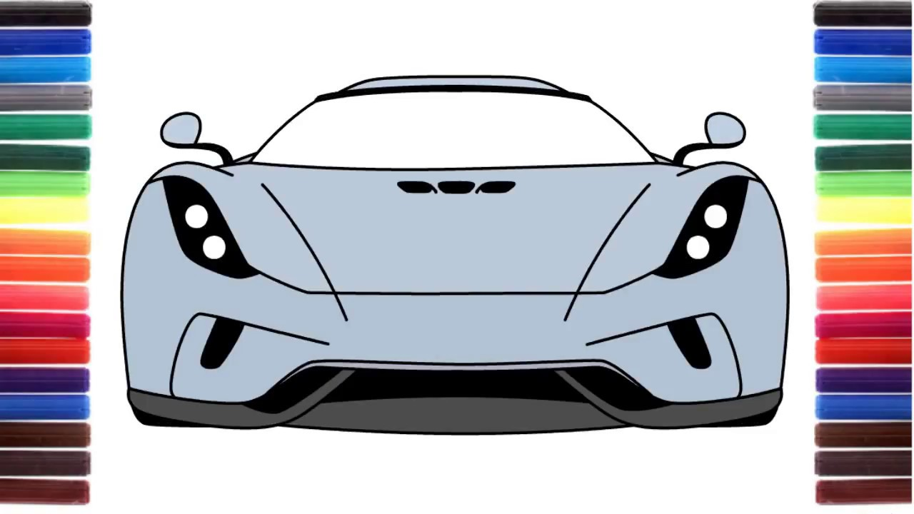 1280x720 How To Draw A Car Koenigsegg Regera Front View