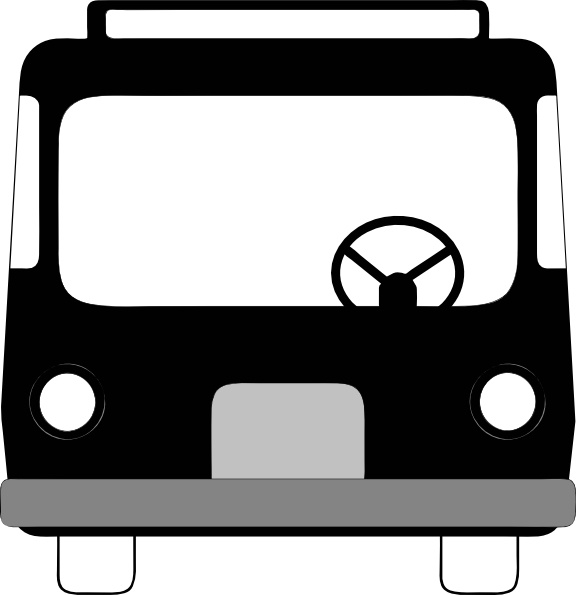 576x595 Bus Front View Clip Art Free Vector In Open Office Drawing