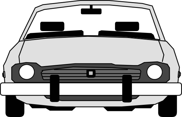 600x384 Car Front View Clip Art Free Vector In Open Office Drawing