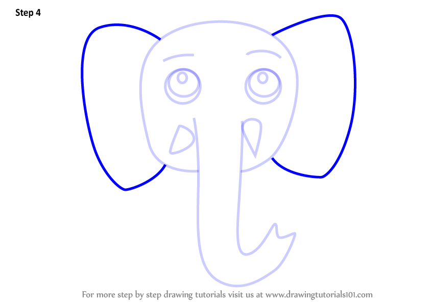 Front Facing Elephant Drawing Free Download Best Front