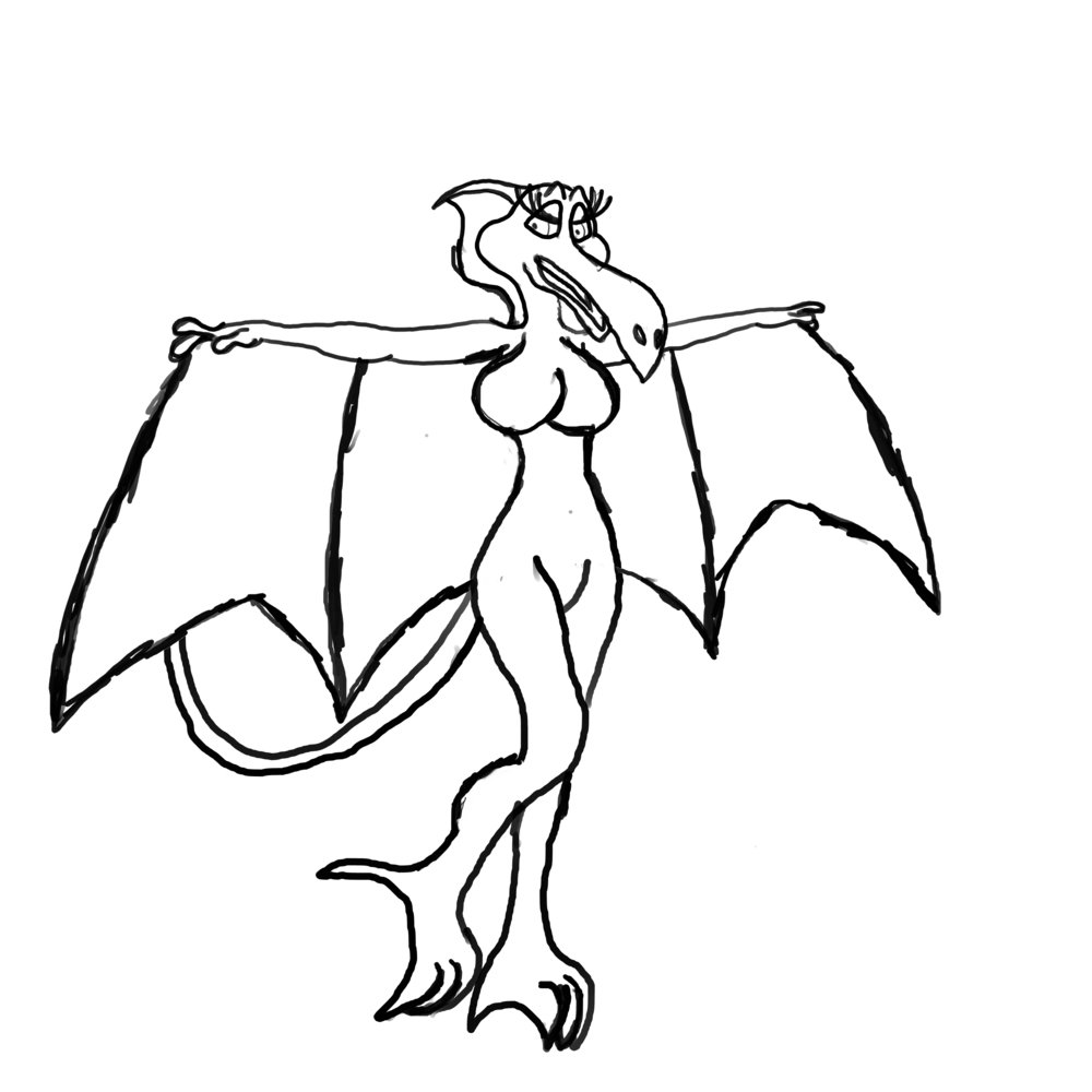1000x1000 pterodactyl drawing elsa for free download
