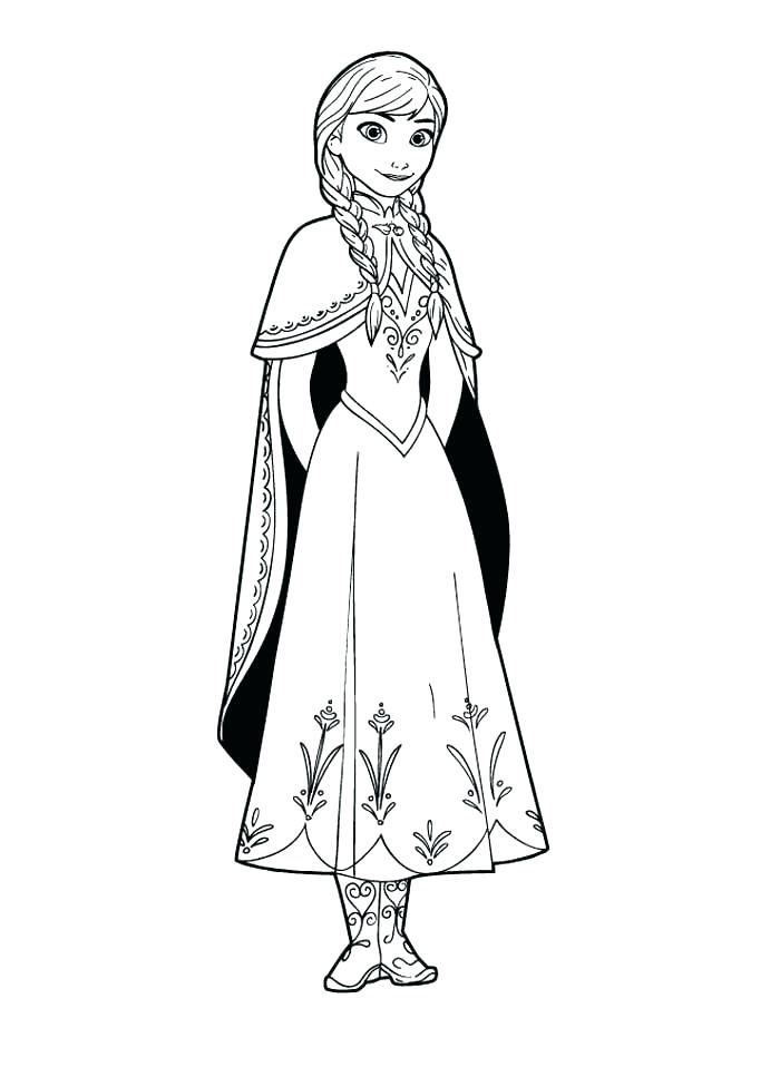 Frozen Outline Drawing   Free download on ClipArtMag