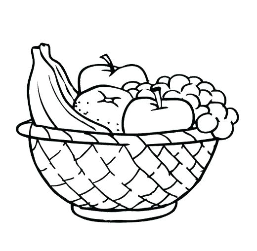 520x509 Easy Fruits To Draw Easy Fruits To Draw Simple Fruit Basket Easy