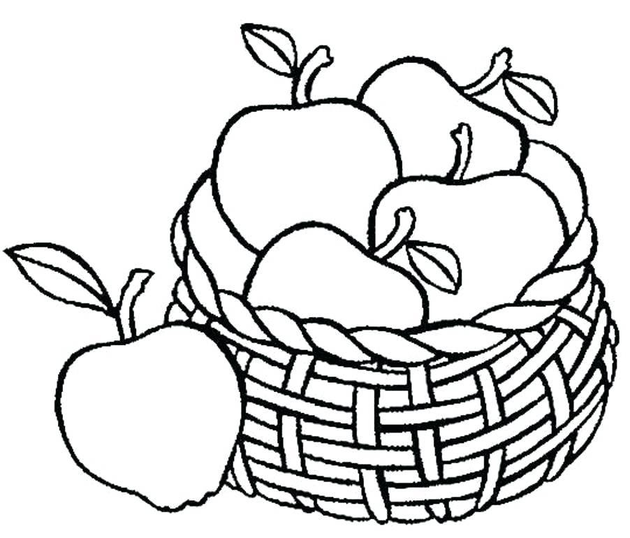 902x770 Fruit Basket Coloring Sheets Fruit Basket Coloring