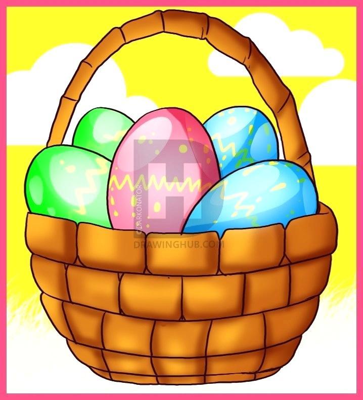 718x790 Basket Drawing Fruit Basket Drawing Outline