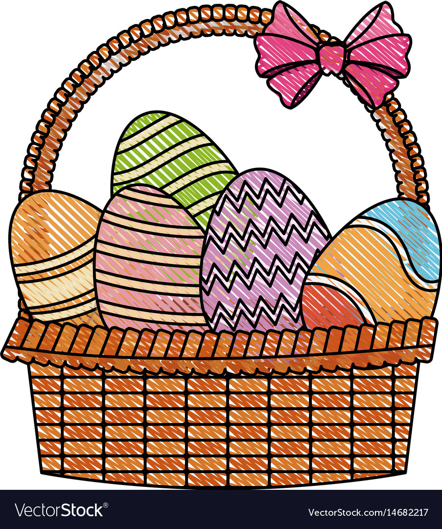 903x1080 Basket Drawing Fruits For Kid Flower With Colour Cartoon Board