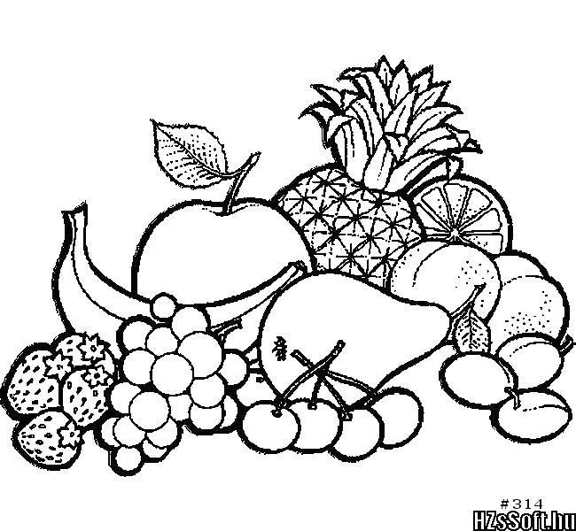 650x600 Pencil Shading Fruit