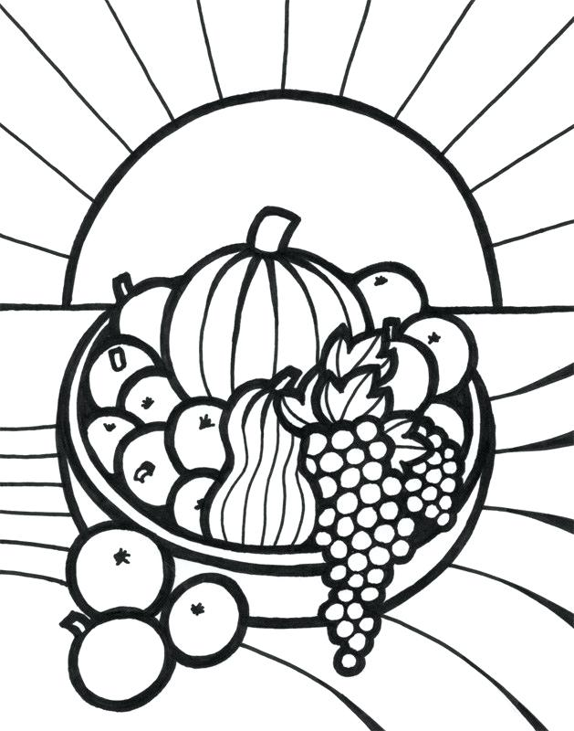 629x800 Fruits And Vegetables Basket Drawings
