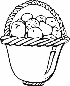 285x350 Coloring Pages For Kids Fruit Basket Coloring Pages, Fruit Basket