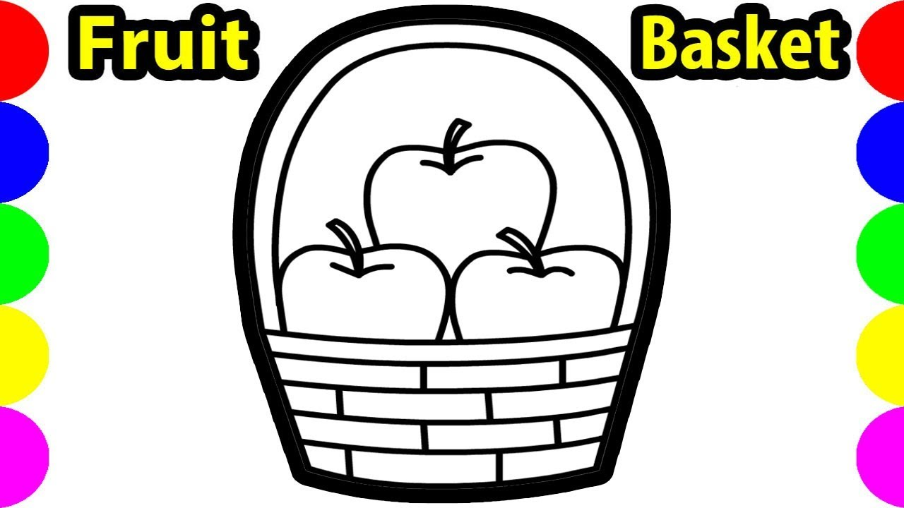 1280x720 Download How To Draw Apple Fruit Basket Clipart Drawing Easy