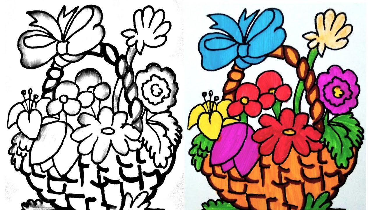 1280x720 Easy Drawingdrawing For Kidsfruit Basket Drawinghow To Make