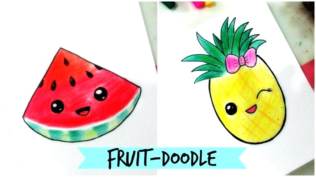 1024x576 Fruits To Draw Ideas Of Draw Fruits Fruit Tree Drawing Easy