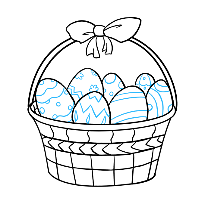 680x678 How To Draw An Easter Basket