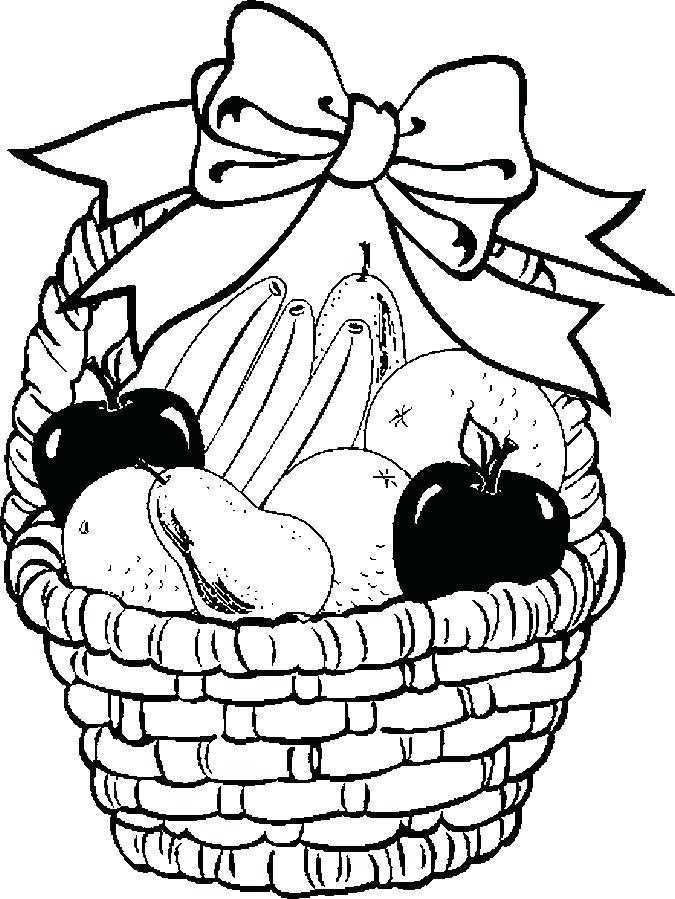 675x899 Draw A Fruit Basket