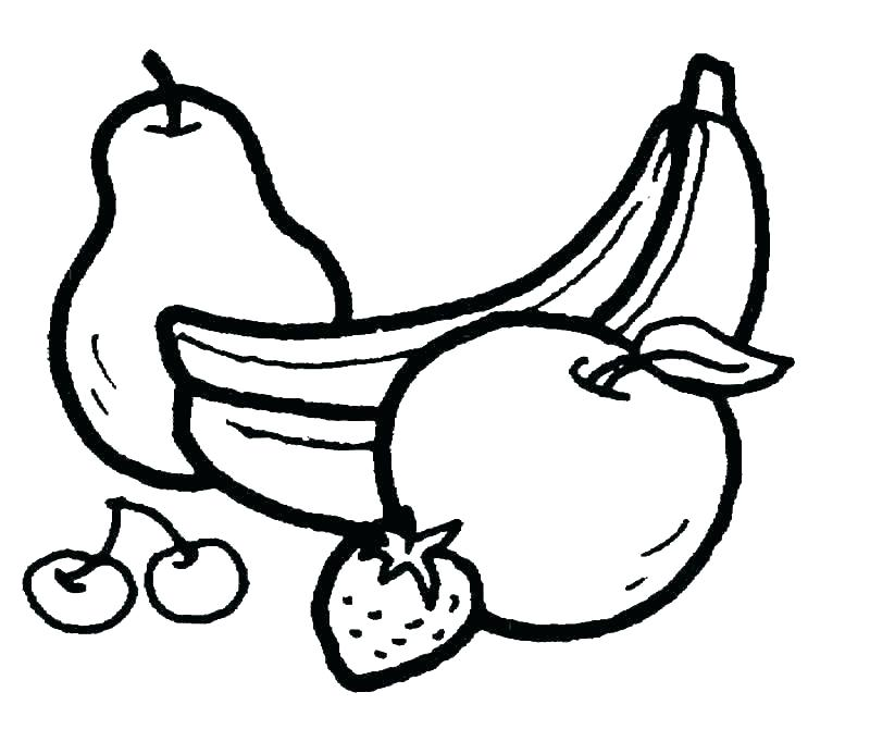 800x693 Fruit Bowl Printable Coloring Pages