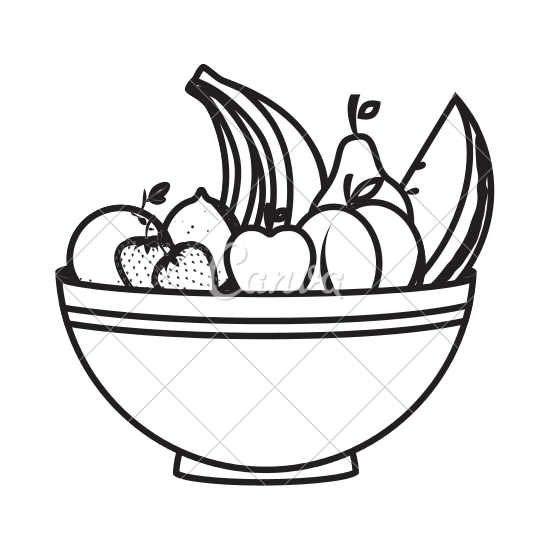 550x550 Collection Of Free Basket Drawing Easy Fruit Download On Ui Ex