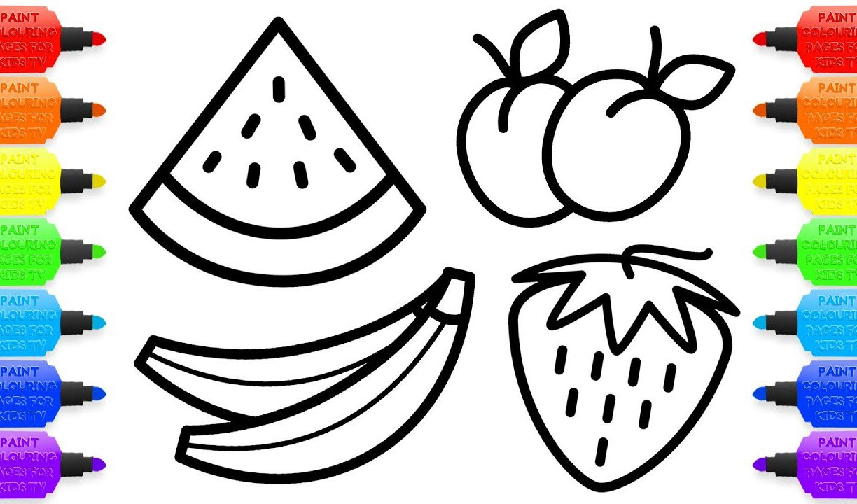 1224x720 Free Printable Coloring Pages Fruit Bowl Fordults Fruits