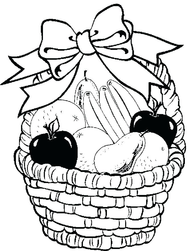 675x879 Fruit Basket Drawing Images How Draw And Color Fruit Basket Kids