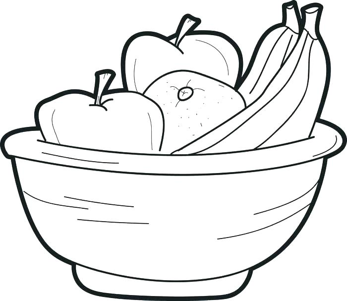 700x607 Fruits Coloring Pages Fruit Bowl