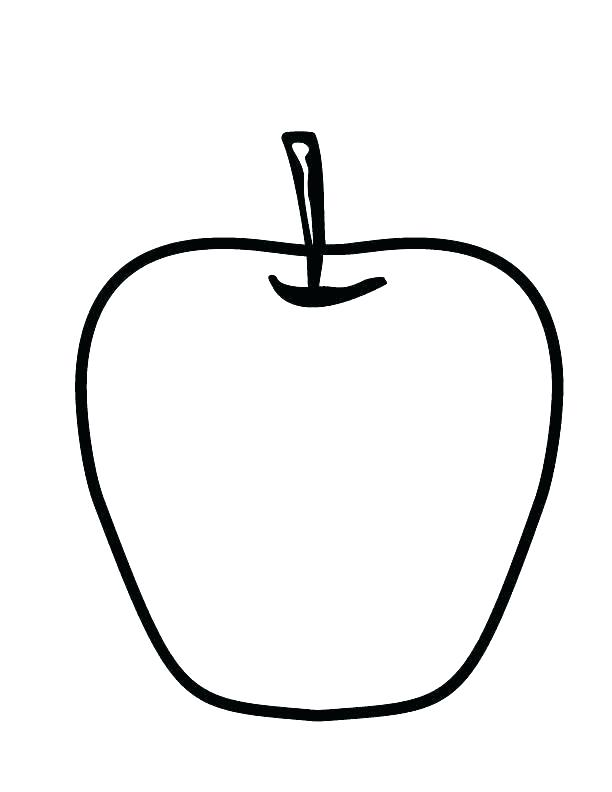 612x792 Printable Apple Coloring