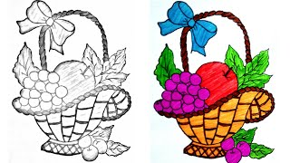 320x180 Draw Fruit Basket For Kids
