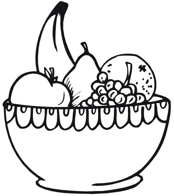 559x629 Drawing Of A Bowl Of Fruit Fruit Bowl Drawing Step