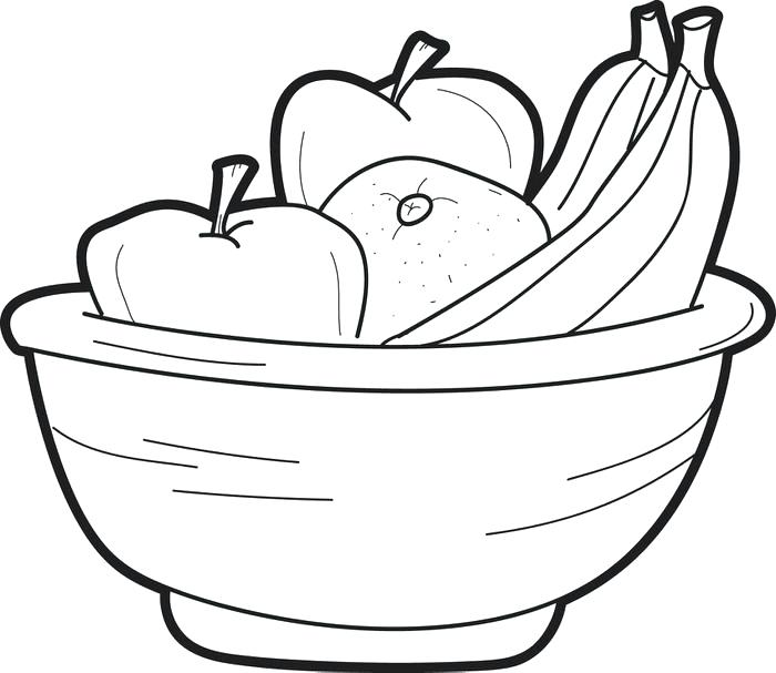 700x607 Easy Fruit Drawings Bowl Of Fruit Drawing How To Draw A Bowl