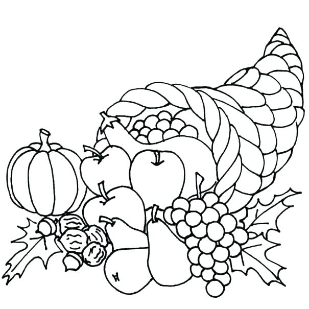 605x605 Fruits And Vegetables Basket Drawings Fruit Color Pages Fruits