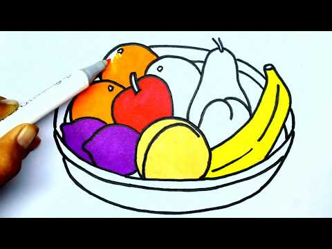 480x360 How To Draw Fruit Basket Learn To Draw Fruit Basket Fruite