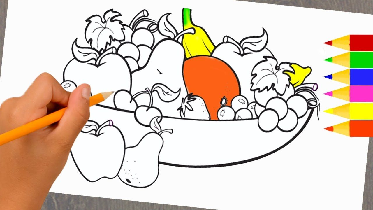 1280x720 Art Video For Kids Drawing Fruit Basket For Learning Colors