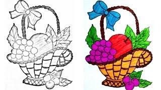 320x180 How To Draw A Fruit Basket Step