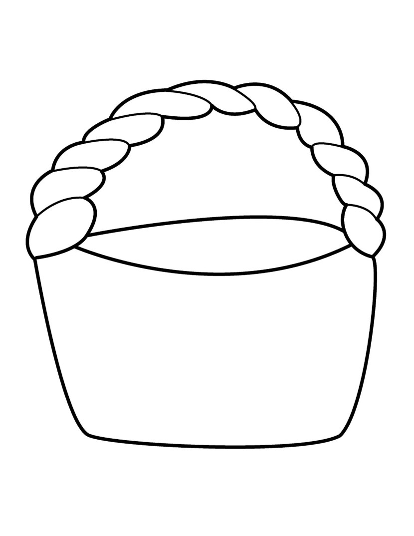 830x1074 Collection Of Free Basket Clipart Colouring