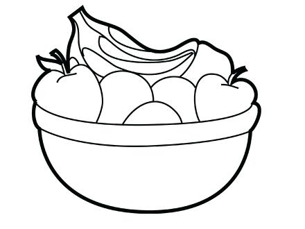 440x330 Fruit Basket Coloring Pages Amazing Bowl